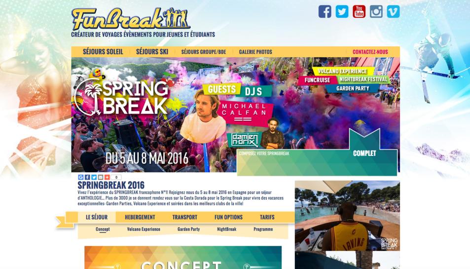 Imatge de la pàgina web de Fun Break, que mostra que l'estada a Salou ja està completa.
