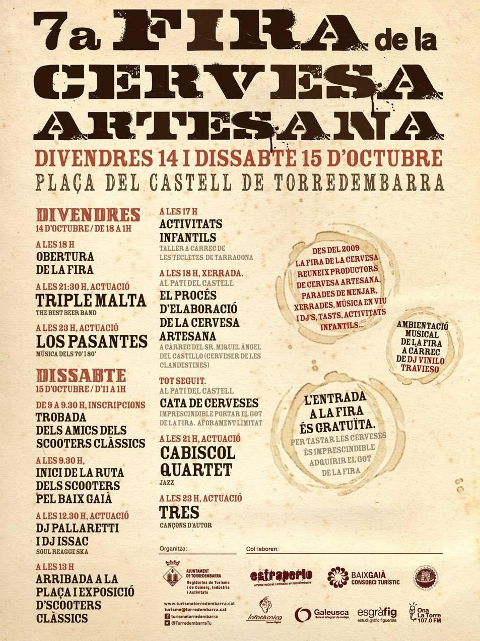 Cartell de la 7a Fira de la Cervesa Artesana de Torredembarra