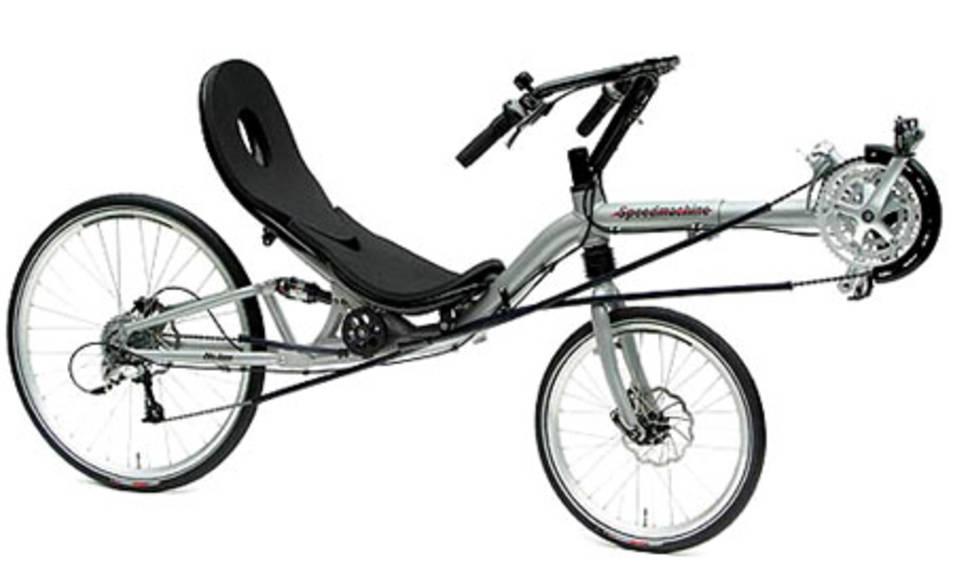 Bicicleta reclinable