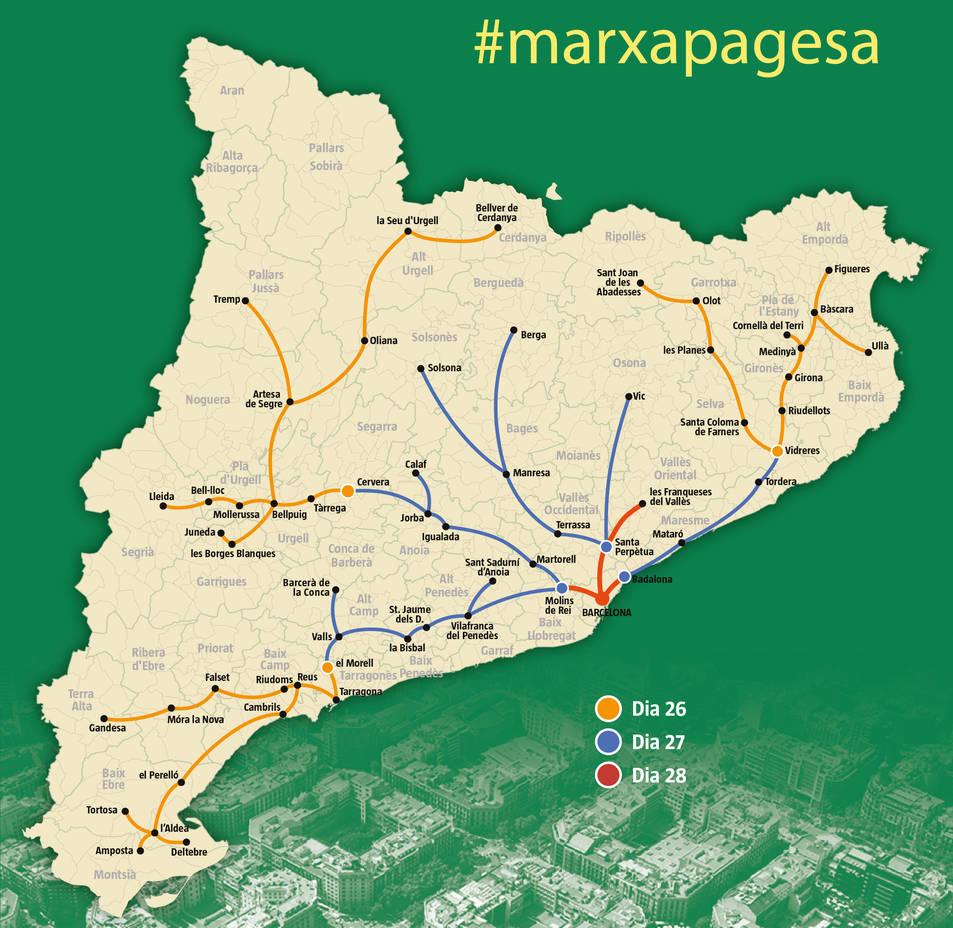 Mapa marxa pagesa