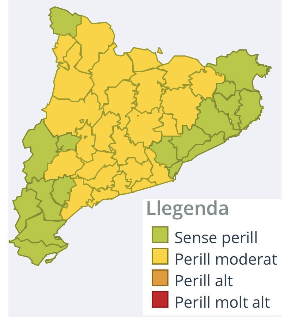 Mapa previsió de neu