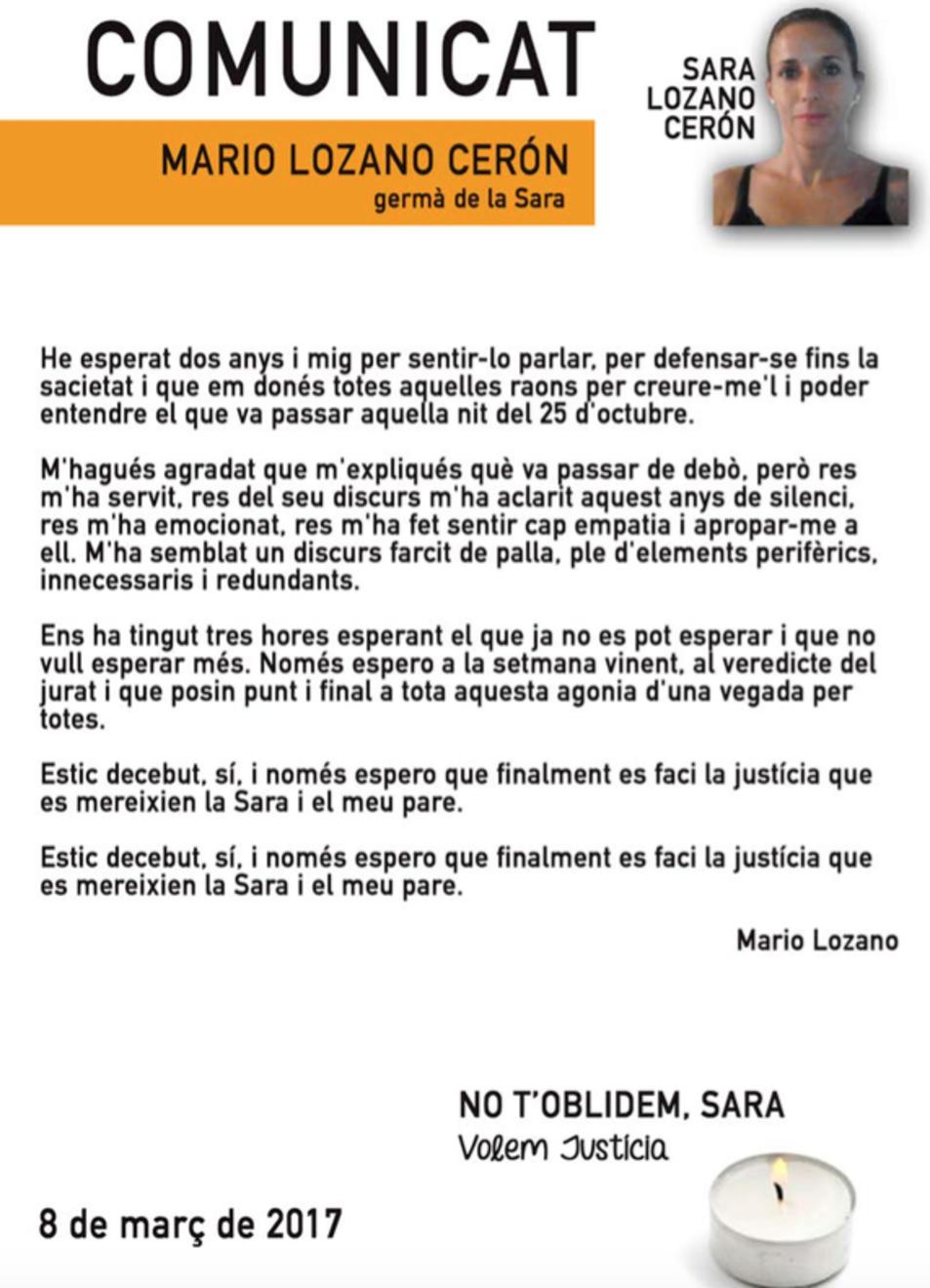 Carta Mario Lozano