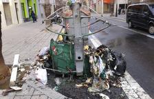 Cremen set contenidors a Reus en les últimes 24 hores