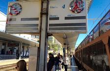 Els panells de l'andana 2 seran reparats quan es remodeli l'estació