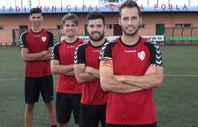 Vadillo, Ruxi, Gil i Jesús López, capitans de la Pobla