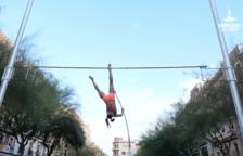 La plaça de la Font es transforma en pista d'atletisme per un dia