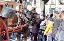 Els cavalls i els carruatges omplen els carrers de Valls