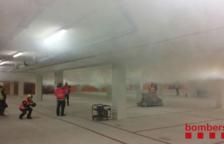 Realitzen un simulacre d'incendi al pàrquing subterrani del Mercat Central