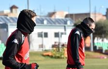 Els jugadors del CF Reus no esquiven el fred