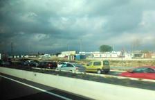Retencions a la T-11 en sentit Tarragona per un accident de trànsit