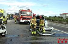Quatre ferits en un accident a les Borges amb tres vehicles implicats