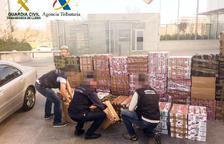 Detinguts amb més de 21.000 paquets de tabac de contraban d'Andorra