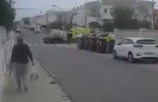 L'illa de contenidors entre Migjorn i Enllaç provoca un nou accident a Coma-ruga