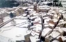 Prades nevat a vista de dron