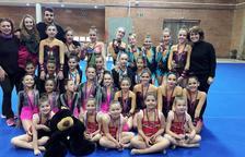 El Club Rítmica El Vendrell va aconseguir uns bons resultats als Jocs Escolars de Gimnàstica