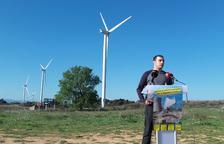 La CUP durà al Govern la petició d'aturar nous parcs eòlics a través de la Diputació