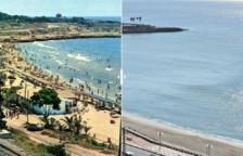 Mira com ha canviat la platja i el passeig del Miracle