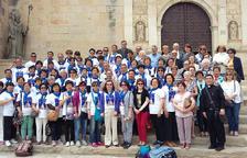 Pelegrins cristians xinesos visiten Ascó, on va néixer el seu patró, Sant Pere Martir Sans