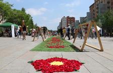 Entitats de Reus fan florir la plaça de la Llibertat amb desenes de roses