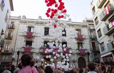 Valls enceta la Festa Major amb una sonada petada de globus