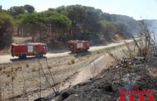 Incendi en una zona de vegetació de Cambrils