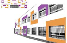 L'Institut Gaudí tindrà una nova façana amb els colors corporatius del centre