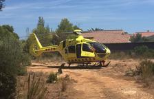 Un motorista en estat crític després de caure per un barranc a Alfara de Carles