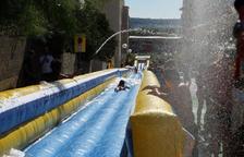 Humor Amarillo i el tobogan aquàtic, protagonistes a la Pobla dissabte passat