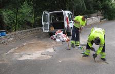 Una vintena de treballadors netegen camins i senders del Camp de Tarragona