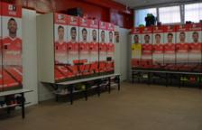 Els vestidors del primer equip del Nàstic llueixen nova imatge