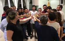 L'Ajuntament de la Bisbal rep als jugadors de la Joventut Bisbalenca