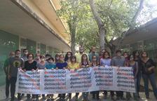 Els professors del Jaume I de Salou protesten en defensa dels seus drets fonamentals