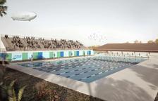 Adjudicades les obres de la piscina dels Jocs i el desmantellament de l'antiga circumval·lació, davant del Nàstic