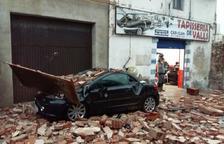 Tretze ferits, 150 arbres caiguts i edificis i mobiliari malmesos pel temporal a Valls