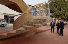 L'obertura de les escales d'accés posa punt i final a la reforma integral del pont de l'Estat de Tortosa