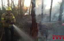 Un incendi crema una hectàrea de vegetació a la Selva del Camp