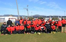 El CF Reus Genuine i el primer equip fan pinya per preparar els propers partits