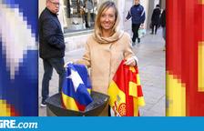 Polèmica per una imatge de la candidata del PPC per Lleida on surt llençant una estelada a les escombraries