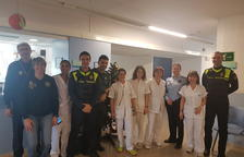 L'Associació Internacional de Policies visiten el Pius Hospital de Valls