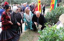 Forta càrrega política en l'ofrena floral a Blas Infante al Camp de Mart