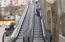 Els usuaris de les escales mecàniques de Tarragona lamenten les freqüents avaries