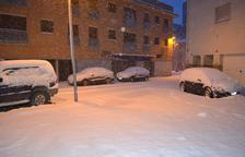La neu deixa gruixos de fins a 20 centímetres a Santa Coloma de Queralt