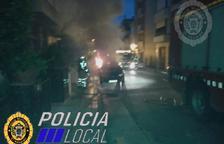 Crema un vehicle a El Vendrell