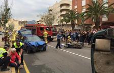 Simulacre d'accident a l'Hospitalet de l'Infant adreçat als veïns i alumnes de secundària