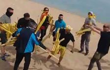 Cinc ferits en un enfrontament entre independentistes i unionistes a Canet de Mar