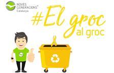 Los jóvenes del PP impulsan una campaña para tirar los lazos amarillos al contenedor de reciclaje
