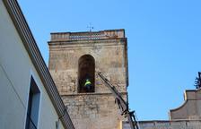 Les quatre campanes de l'església de Riudoms tornen a sonar juntes