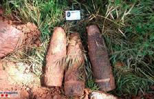Els Mossos troben tres projectils de la Guerra Civil a Montblanc