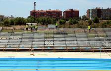 Treballs a contrarellotge a l'Anella Mediterrània a una setmana de la inauguració dels Jocs