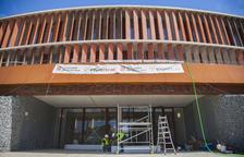 El Palau d'Esports ultima les preparacions per a la seva inauguració